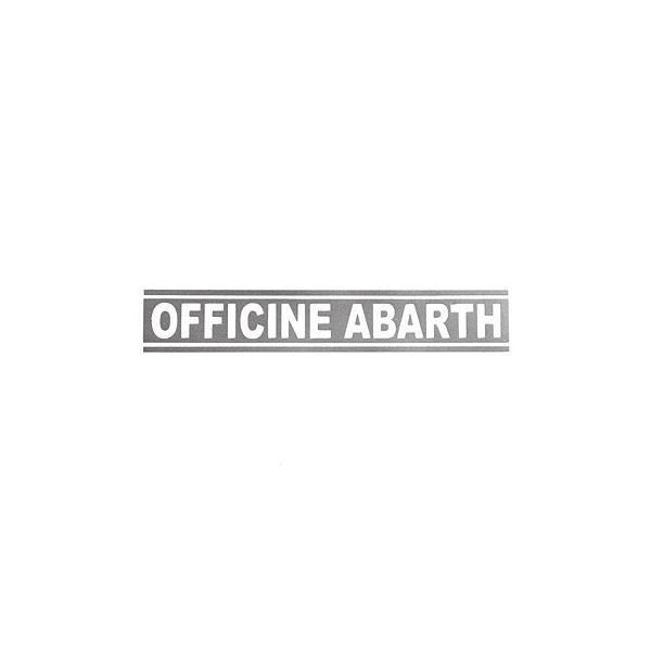アバルト純正OFFICINE アバルトロゴ切り文字ステッカー (シルバー)|itazatsu