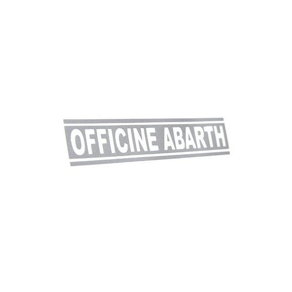 アバルト純正OFFICINE アバルトロゴ切り文字ステッカー (シルバー)|itazatsu|02