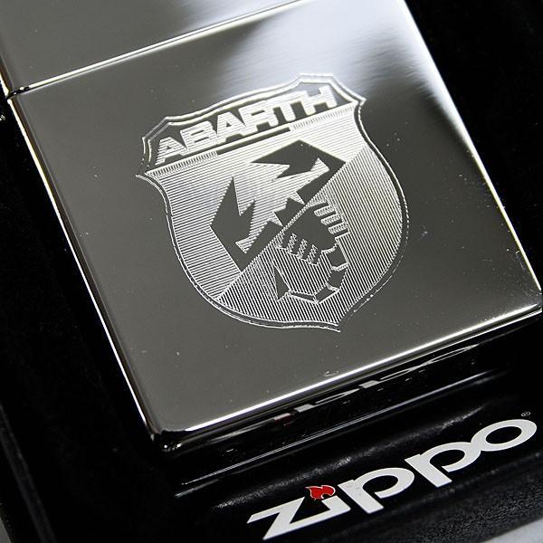 New アバルトエンブレム刻印Zippoライター(クロームタイプ)|itazatsu|02
