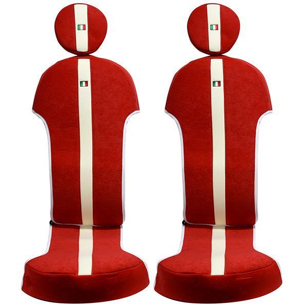 フィアット NEW 500シートカバー&ヘッドレストセット -SMOKING RED-|itazatsu|03