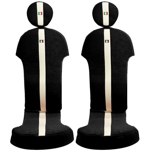 フィアット NEW 500シートカバー&ヘッドレストセット -SMOKING BLACK-|itazatsu|03