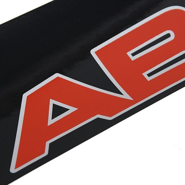 アバルト NEWロゴウィンドウシールド用ステッカー (ブラックベース)|itazatsu|02