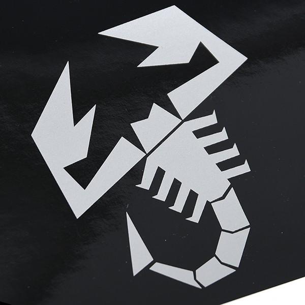 アバルト NEWロゴウィンドウシールド用ステッカー (ブラックベース)|itazatsu|04