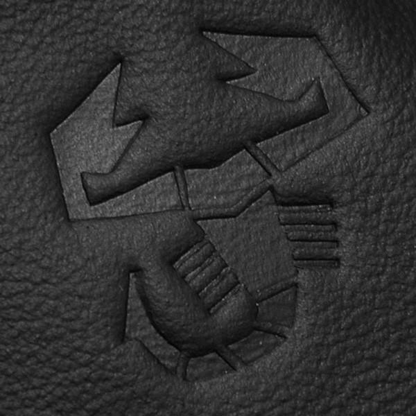 アバルト車内用フック付きFrau社レザー製小物入れ (ブラック/レッドステッチ)|itazatsu|03