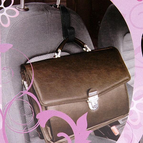 ヘッドレストアーム取付式手荷物フック(ブルー)|itazatsu|03