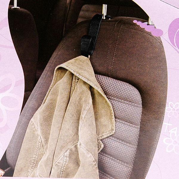 ヘッドレストアーム取付式手荷物フック(ベージュ)|itazatsu|04