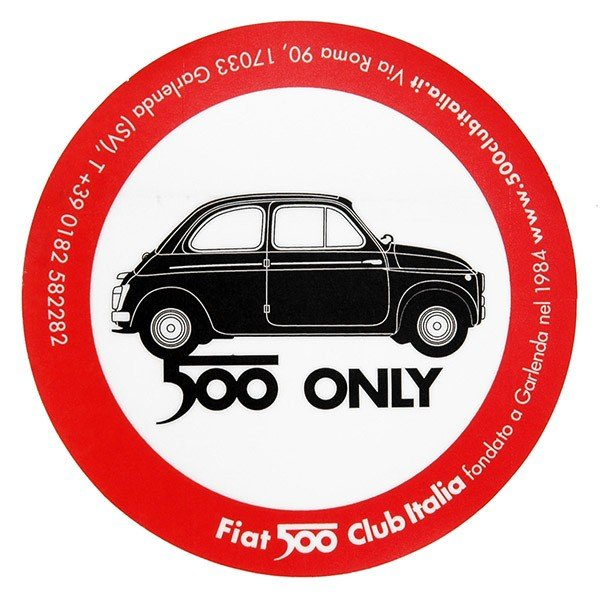 FIAT 500 CLUB ITALIA 2007ステッカー(裏貼りタイプ)|itazatsu