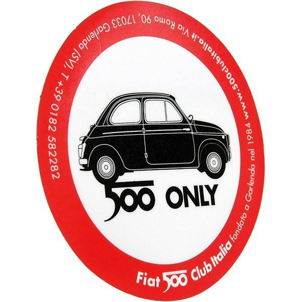 FIAT 500 CLUB ITALIA 2007ステッカー(裏貼りタイプ)|itazatsu|02