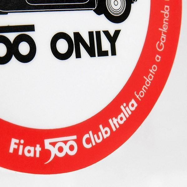 FIAT 500 CLUB ITALIA 2007ステッカー(裏貼りタイプ)|itazatsu|03