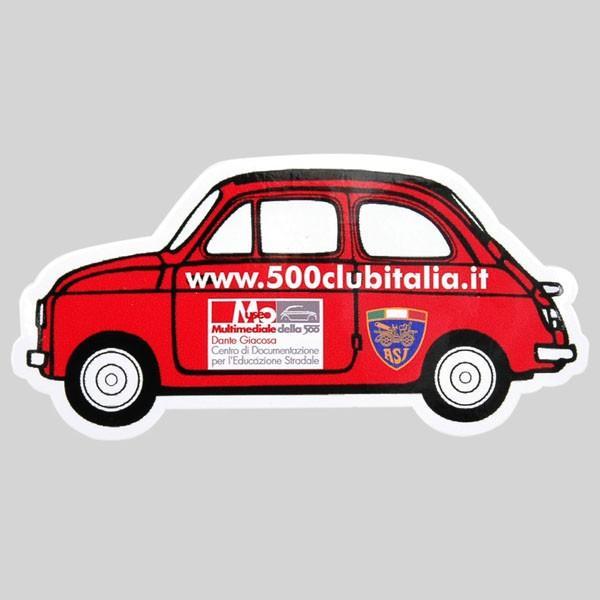 フィアット FIAT 500 CLUB ITALIAステッカー(車型)|itazatsu