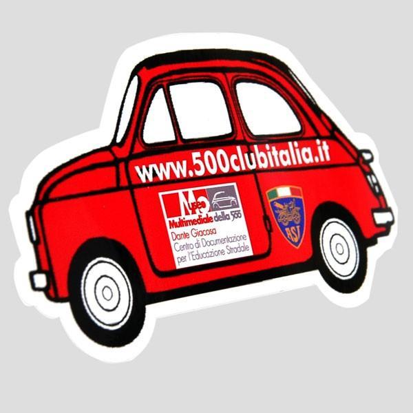 フィアット FIAT 500 CLUB ITALIAステッカー(車型)|itazatsu|02