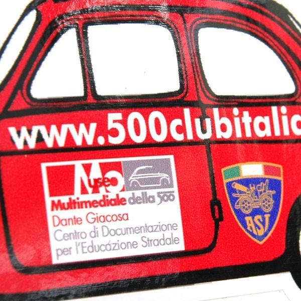 フィアット FIAT 500 CLUB ITALIAステッカー(車型)|itazatsu|03