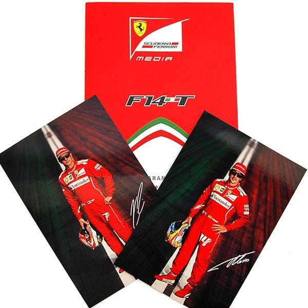 スクーデリア フェラーリ F14-Tプレスリーフレット&ドライバーズカードセット itazatsu