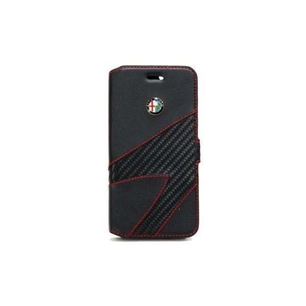 アルファロメオ純正iPhone7/8手帳型フリップケース-Synthetic(ブラック)- itazatsu 02