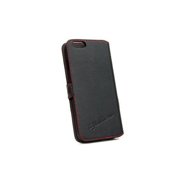 アルファロメオ純正iPhone7/8手帳型フリップケース-Synthetic(ブラック)- itazatsu 03