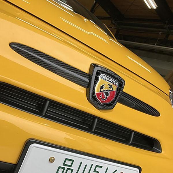 アバルト 500/595/695カーボンエンブレムカバー by THREE HUNDRED|itazatsu|02