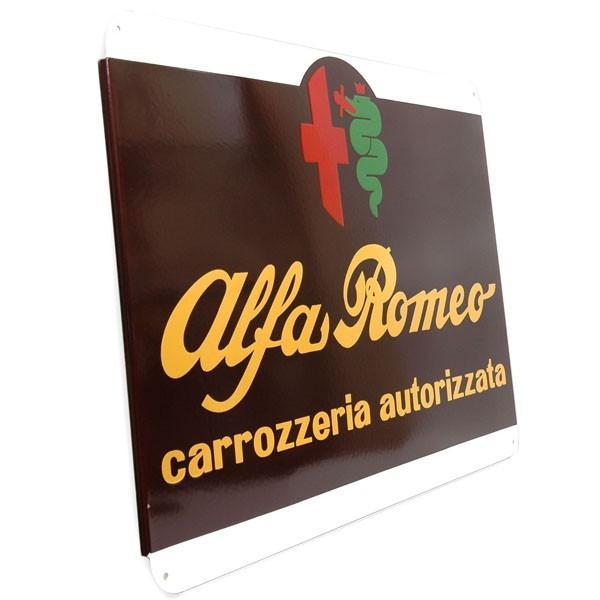 アルファロメオ ホーローサインボード-CARROZZERIA AUTORIZZATA- 800mm|itazatsu|02
