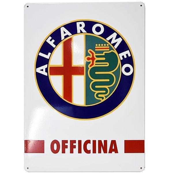 アルファロメオホーローサインボード-OFFICINA-690mm|itazatsu