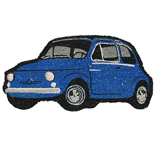 フィアット 500型玄関マット(ブルー)|itazatsu