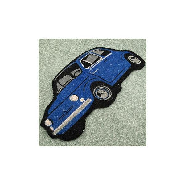 フィアット 500型玄関マット(ブルー)|itazatsu|04