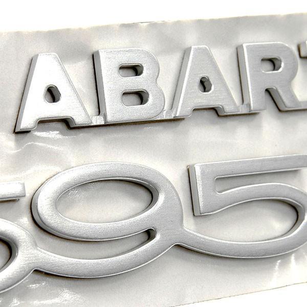 アバルト純正 595 50th Anniversaryリア用ロゴエンブレム|itazatsu|05