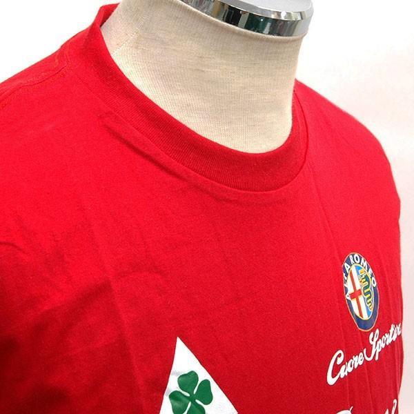アルファロメオ Cuore Sportivo Tシャツ(レッド)|itazatsu|06