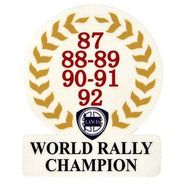 ランチア純正WRCチャンピオン記念ステッカー(1987-1992/裏貼りタイプ) itazatsu