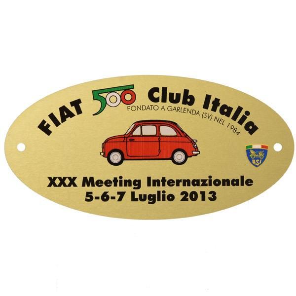 フィアット FIAT 500 CLUB ITALIA 2013ミーティング記念バッジ|itazatsu