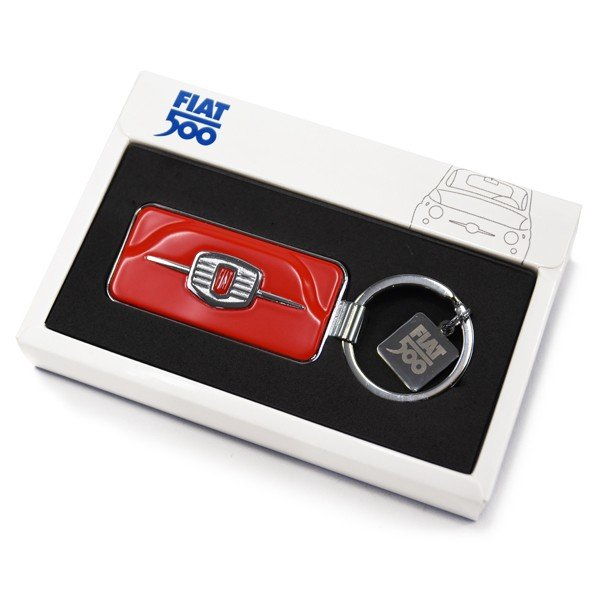 フィアット純正 Nuova 500フロントグリルキーリング(レッド) itazatsu 05