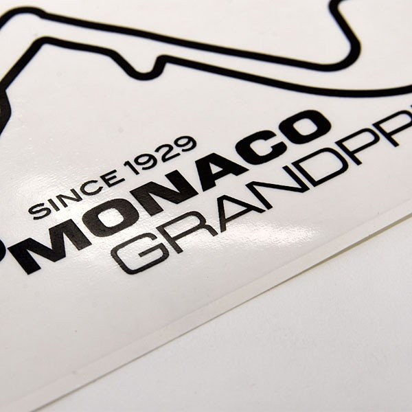 MONACO Grand Prixオフィシャルステッカー(ブラック)|itazatsu|04