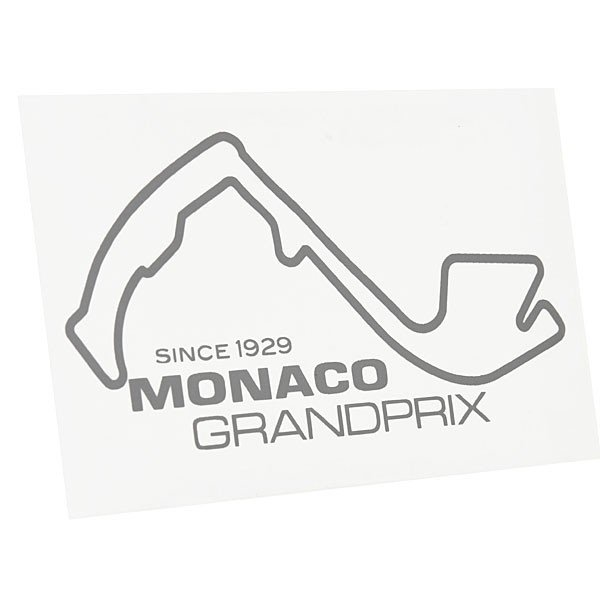 MONACO Grand Prixオフィシャルステッカー(シルバー)|itazatsu|02