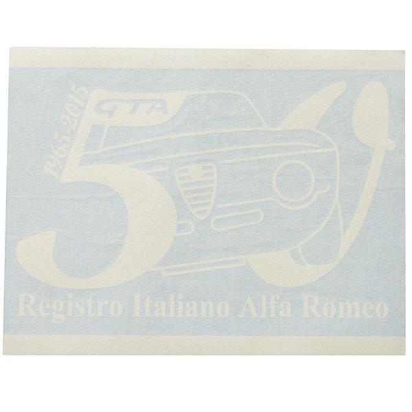 アルファロメオ GIULIA GTA 50周年記念ロゴステッカー(ホワイト) by RIA(Registro Italiano Alfa Romeo)|itazatsu|02