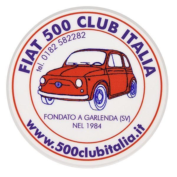 フィアット FIAT 500 CLUB ITALIAステッカー(裏貼りタイプ)|itazatsu