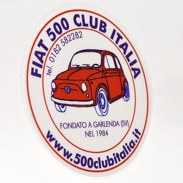 フィアット FIAT 500 CLUB ITALIAステッカー(裏貼りタイプ)|itazatsu|02
