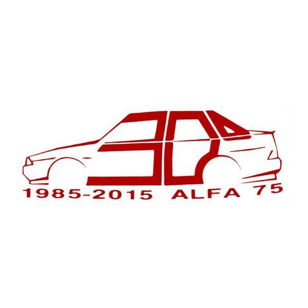 アルファロメオ 75 30周年記念ロゴステッカー by RIA(Registro Italiano Alfa Romeo)|itazatsu