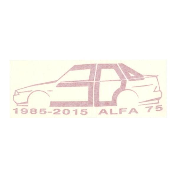 アルファロメオ 75 30周年記念ロゴステッカー by RIA(Registro Italiano Alfa Romeo)|itazatsu|02