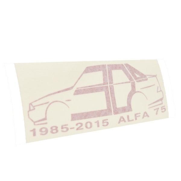 アルファロメオ 75 30周年記念ロゴステッカー by RIA(Registro Italiano Alfa Romeo)|itazatsu|03