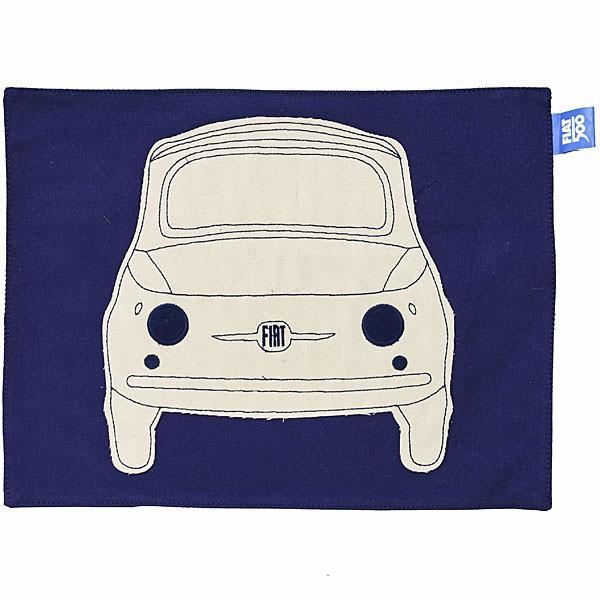 フィアット純正 Nuova 500ランチョンマット(ブルー)|itazatsu