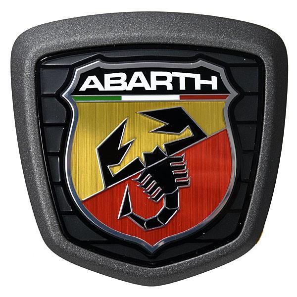 アバルト純正 500ABARTH用リアエンブレム(ダークグレーフレーム)|itazatsu