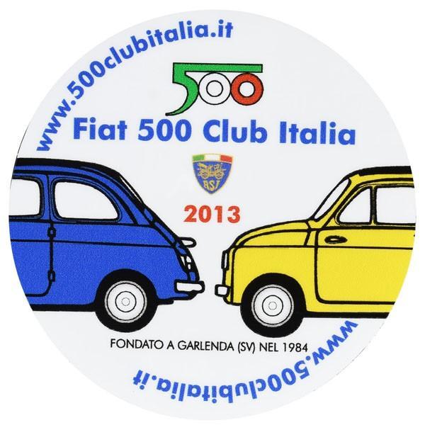 フィアット FIAT 500 CLUB ITALIA 2013ステッカー(裏貼りタイプ)|itazatsu