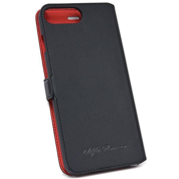 アルファロメオ純正 iPhone7/6/6s Plus手帳型ソフトケース(ブラック) itazatsu 02