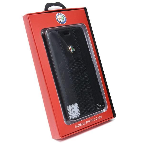アルファロメオ純正 iPhone7/6/6s Plus手帳型ソフトケース(ブラック) itazatsu 06