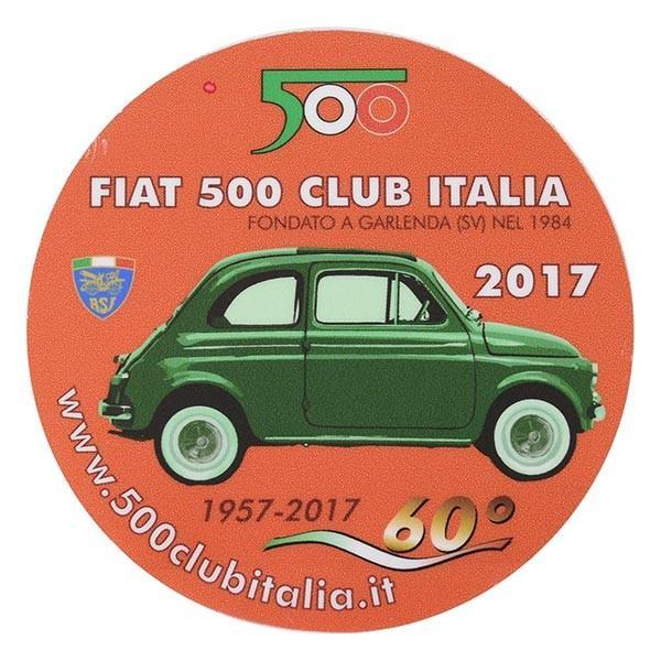フィアット FIAT 500 CLUB ITALIA 2017ステッカー(裏貼りタイプ) itazatsu
