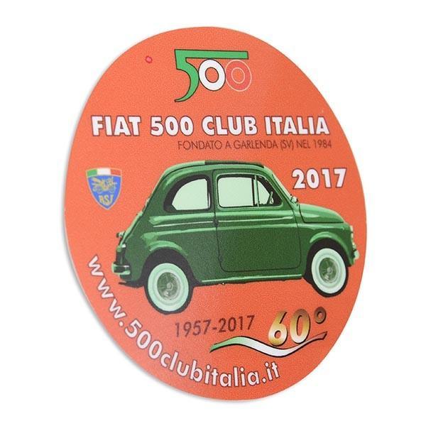 フィアット FIAT 500 CLUB ITALIA 2017ステッカー(裏貼りタイプ) itazatsu 02