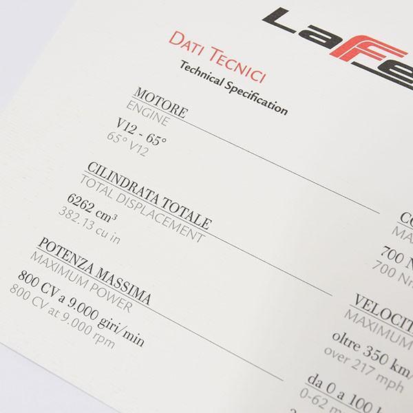 フェラーリ純正 La Ferrariテクニカルカード|itazatsu|05