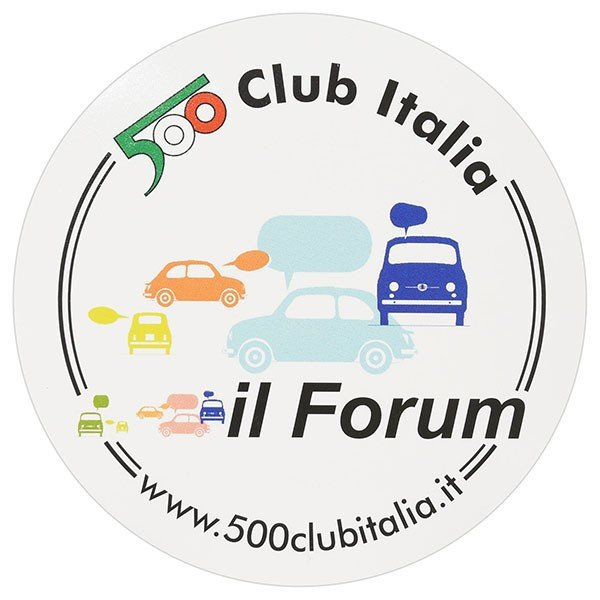 フィアット FIAT 500 CLUB ITALIAステッカー-il Form- itazatsu