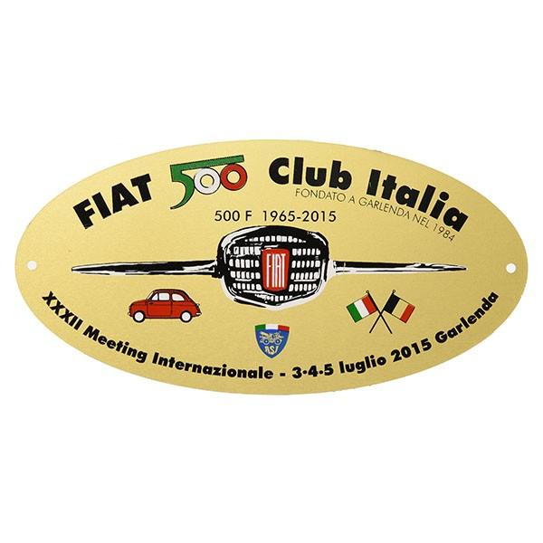 フィアット 500 CLUB ITALIA 2015ミーティング記念エンブレムプレート|itazatsu