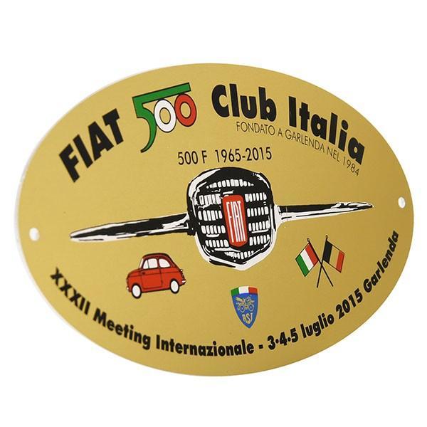 フィアット 500 CLUB ITALIA 2015ミーティング記念エンブレムプレート|itazatsu|02