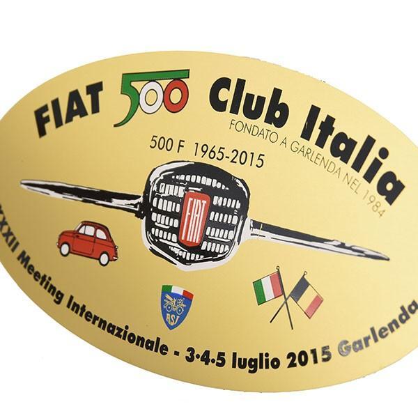 フィアット 500 CLUB ITALIA 2015ミーティング記念エンブレムプレート|itazatsu|03