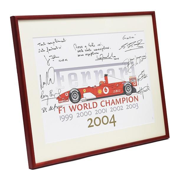 スクーデリア フェラーリ 2004 F1ワールドチャンピオンメモリアル額装ポスター|itazatsu|02